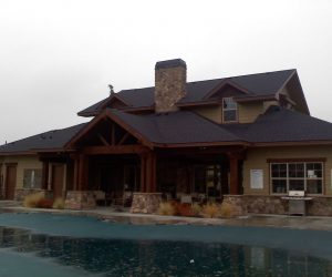 front of clubhouse